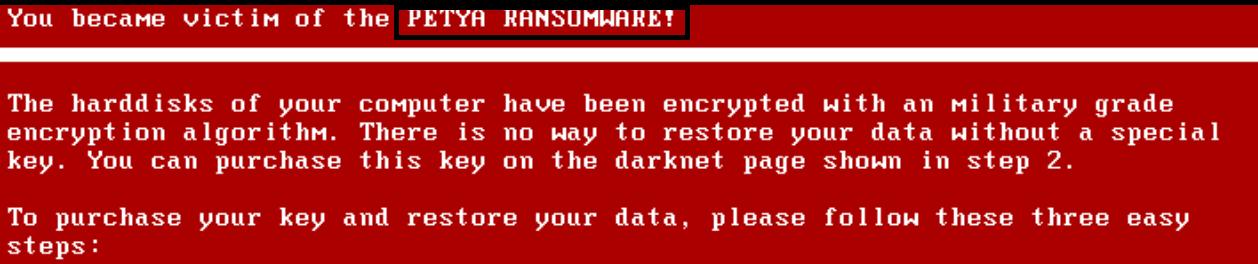 Petya Ransomware Removal