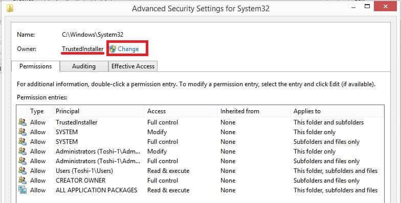 how to delete trustedinstaller files in windows 10