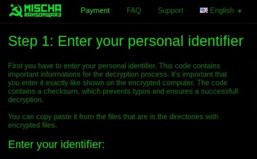 The mischa ransomware