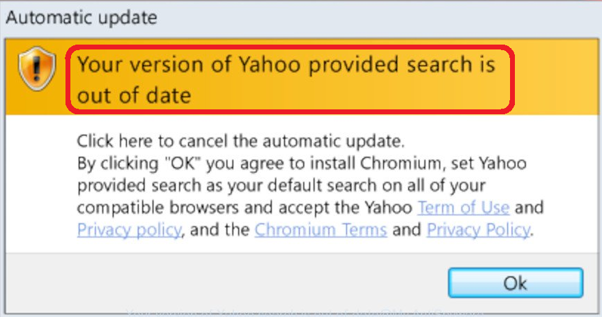 Your Version of Yahoo Provided Search is Out of Date