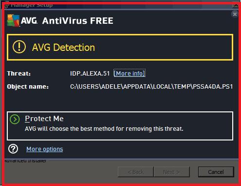 IDP.ALEXA.51 Virus Avast