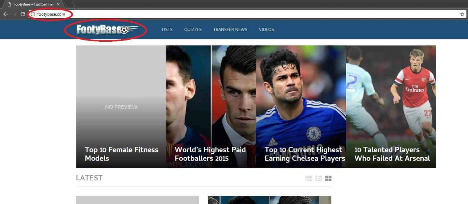 Footybase.com Browser Hijacker