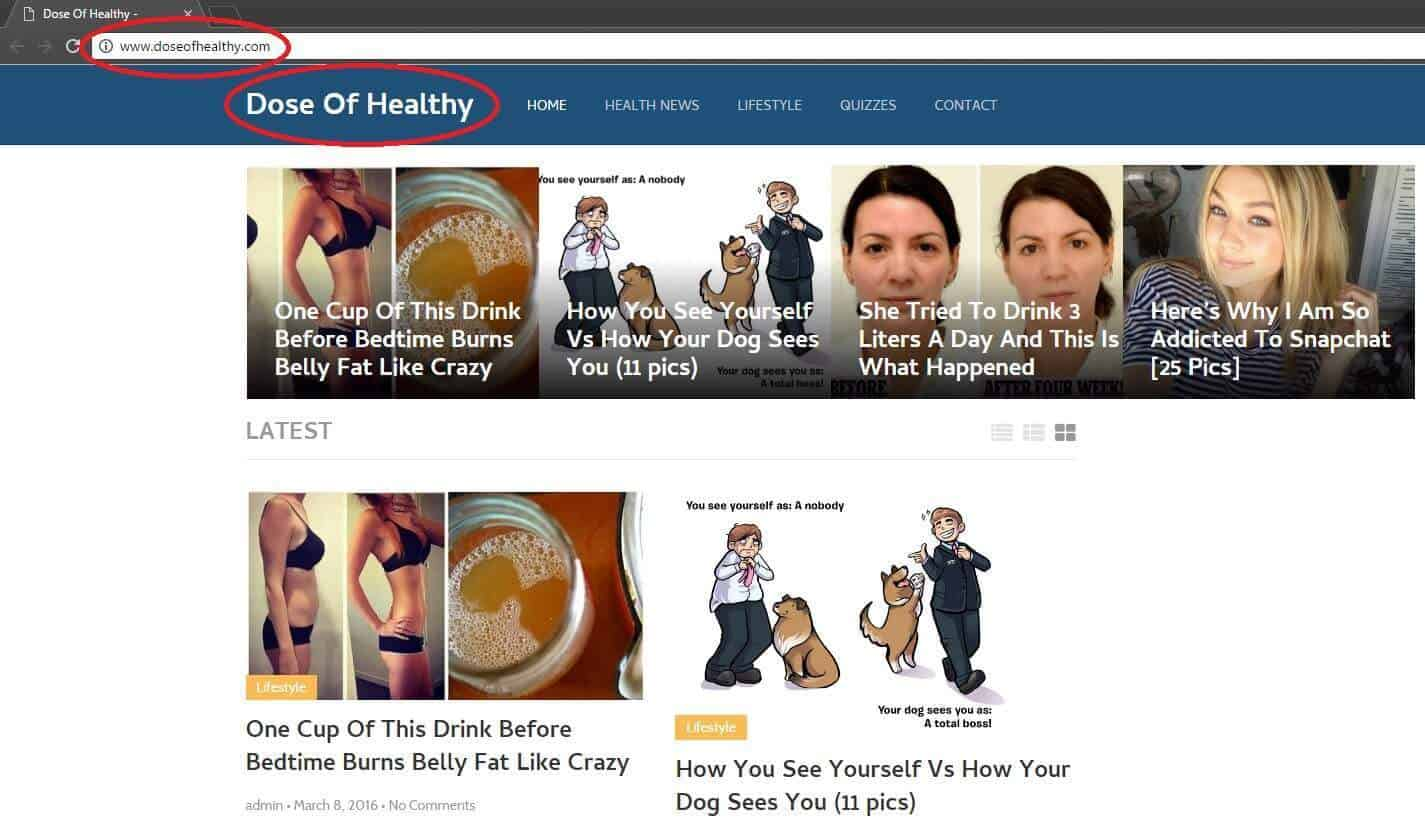 Doseofhealthy Browser Redirect