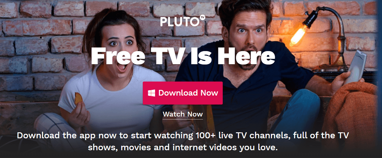PlutoTV works on multiple platforms.