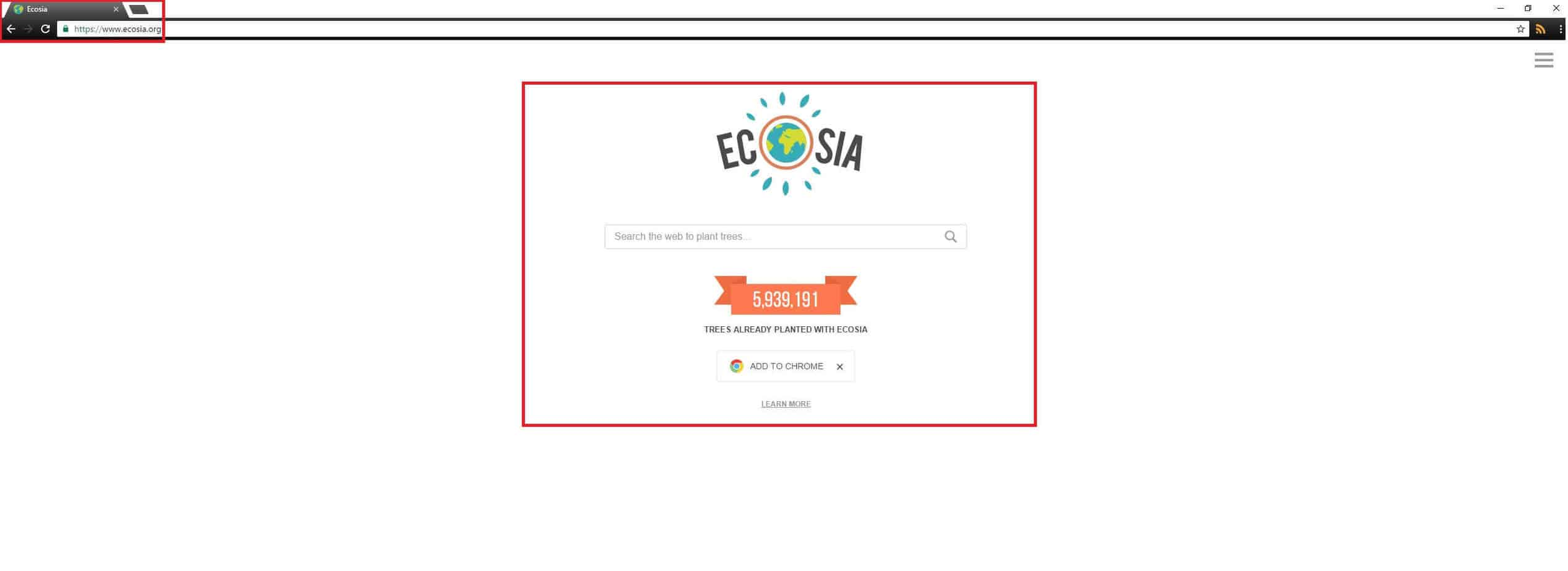 Ecosia.org Browser Redirect