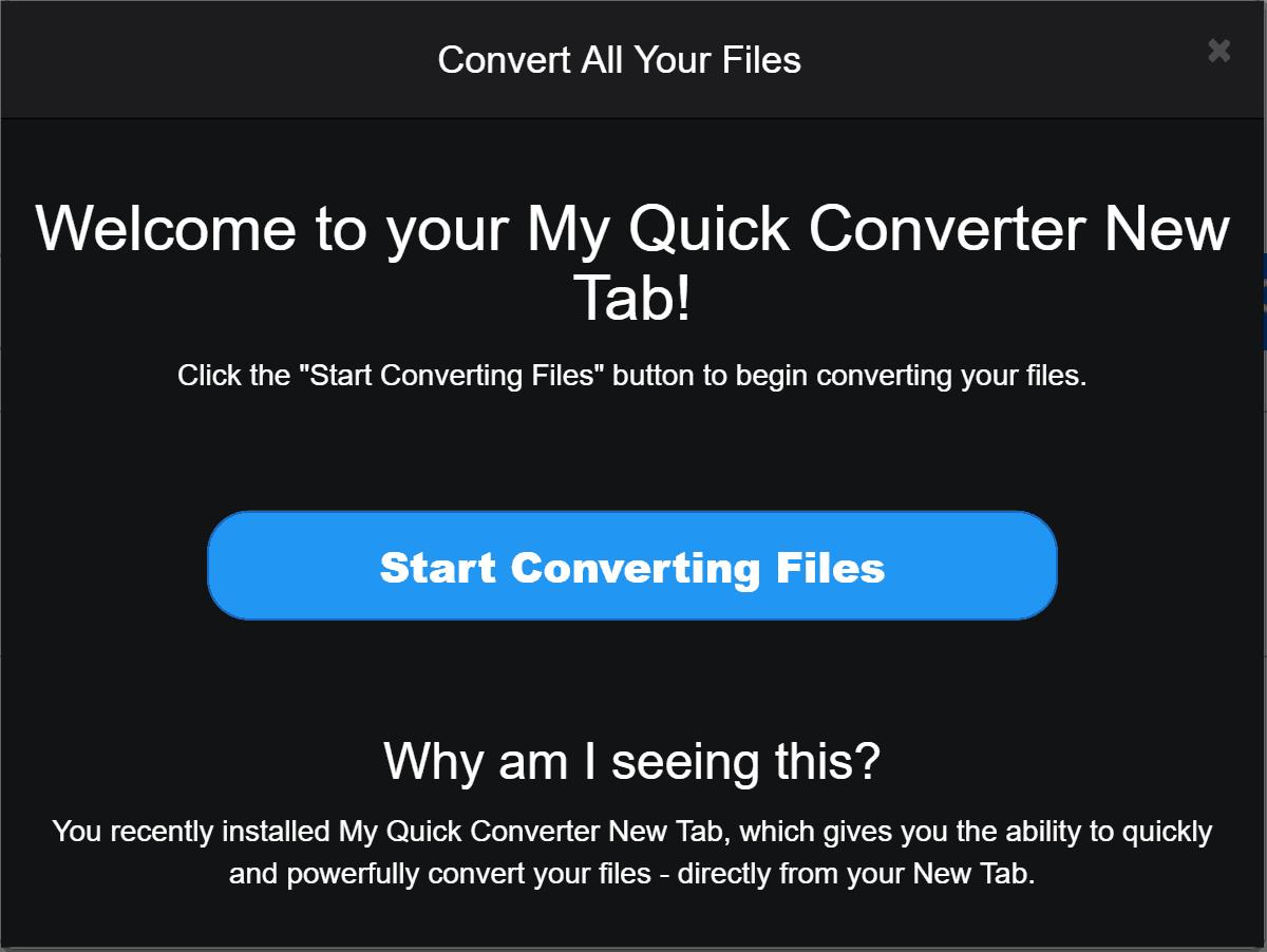 Uninstall My Quick Converter