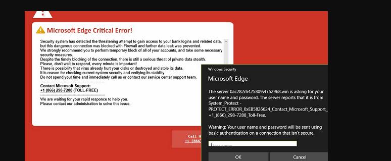 Microsoft Edge Critical ERROR