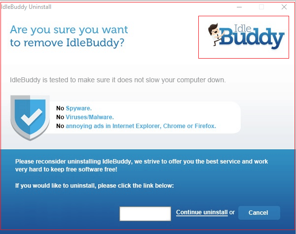 uninstall Idle Buddy virus