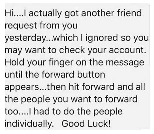 Facebook Friend Request Scam tricks users