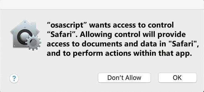 """Remove """"Osascript wants access to control"""" Virus (Mac) Dec. 2019 Update"""