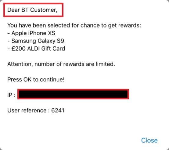 Dear BT Customer Congratulations