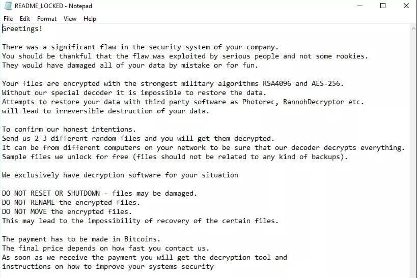 .Fedasot Ransomware