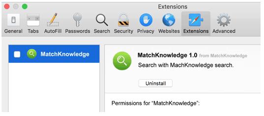 Uninstall MatchKnowledge