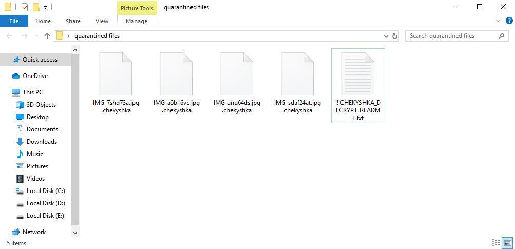 Chekyshka Ransomware removal guide
