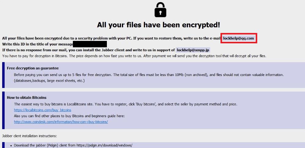 How to remove Lockhelp@qq.com Ransomware
