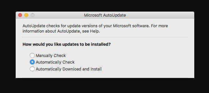 Microsoft AutoUpdate Mac Virus