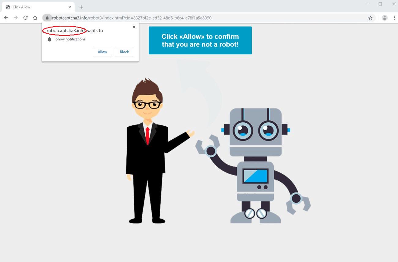 """Anleitung für die Entfernung von Robotcaptcha3.info """"Virus"""""""
