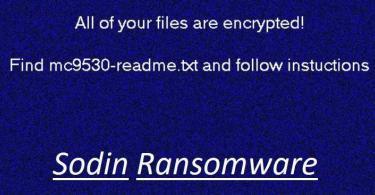 Sodin Ransomware removal guide