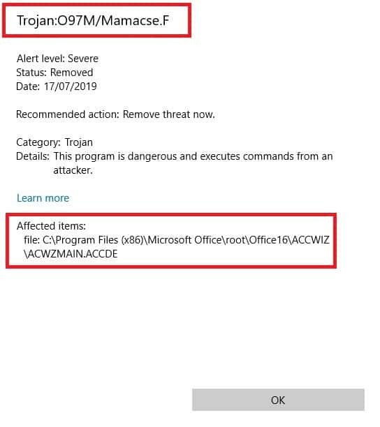 Remove Acwzmain accde Trojan Virus (July 2019 Update