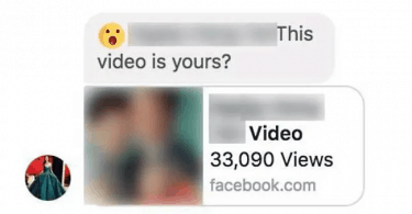 This Video Yours Facebook Message Virus