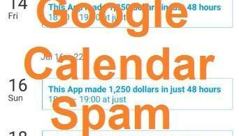 Spam on Google Calendar