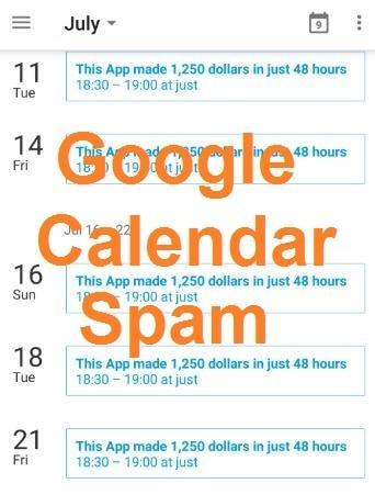 Спам в Календаре Google