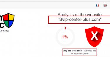 Svip center plus Spam Virus
