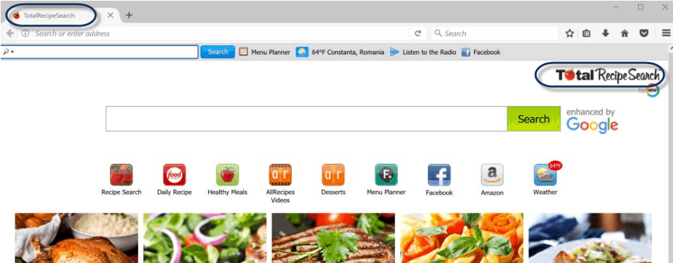 How To Remove Total Recipe Search Toolbar
