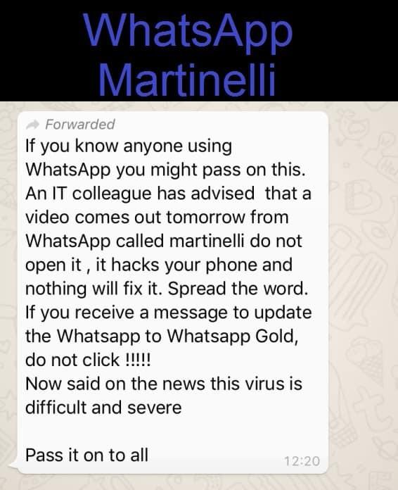 WhatsApp Martinelli