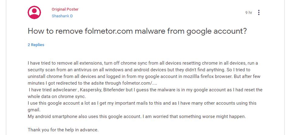 Folmetor.com Virus