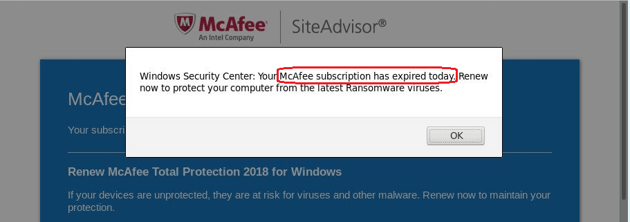 McAfee Has Expired