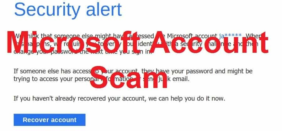 Microsoft Account Scam