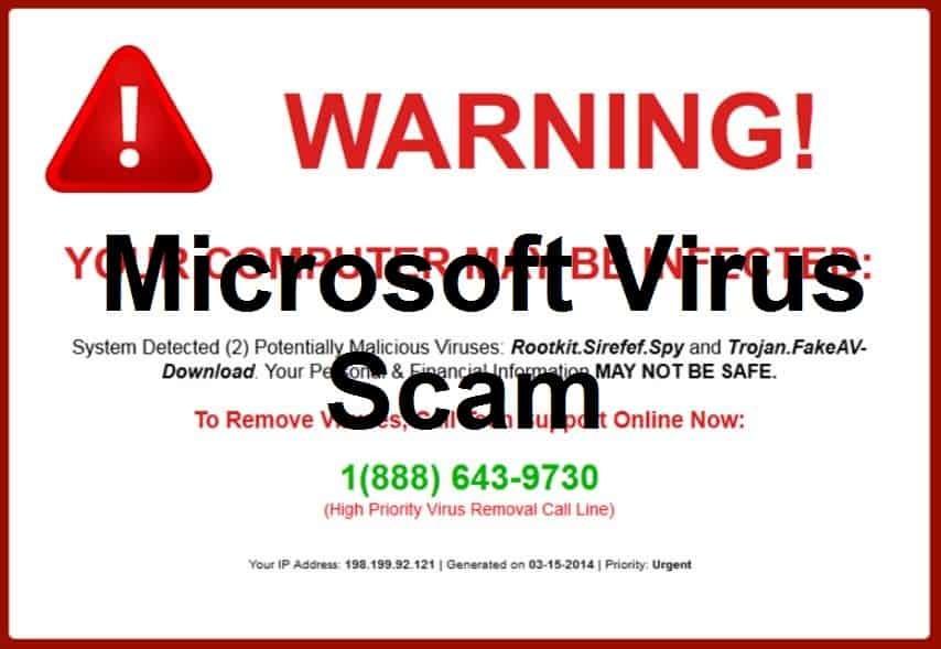 Microsoft Virus Scam
