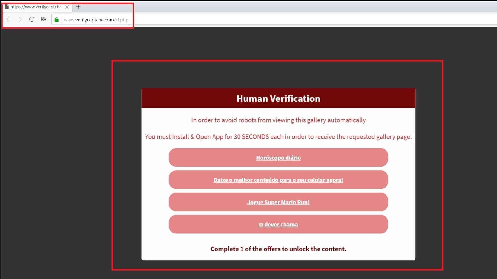 Remove Verifycaptcha.com Virus