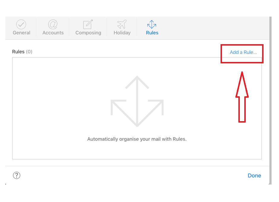 How to block emails on iCloud step 5