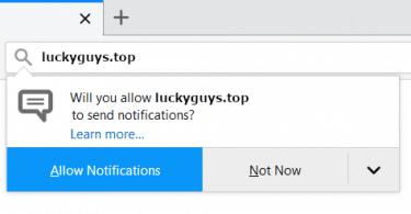 luckyguys.top pop up