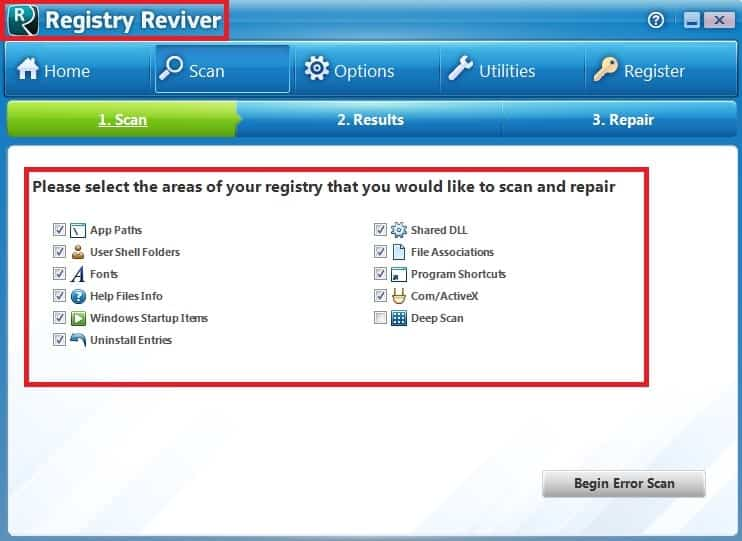 registry reviver virus
