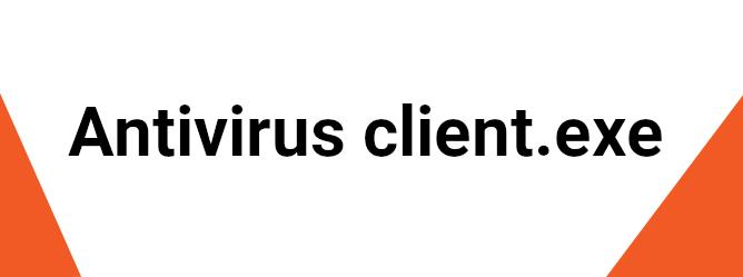 Antivirus Client.exe Error