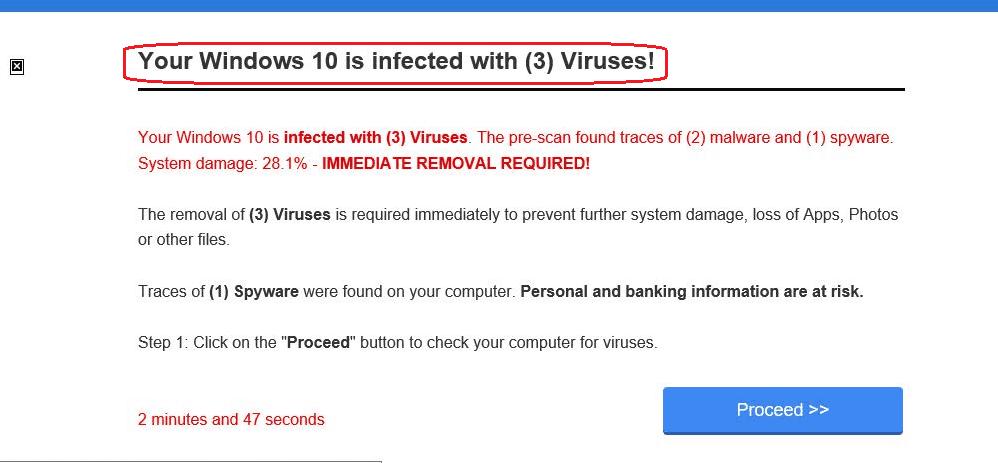 Chrome found 3 viruses