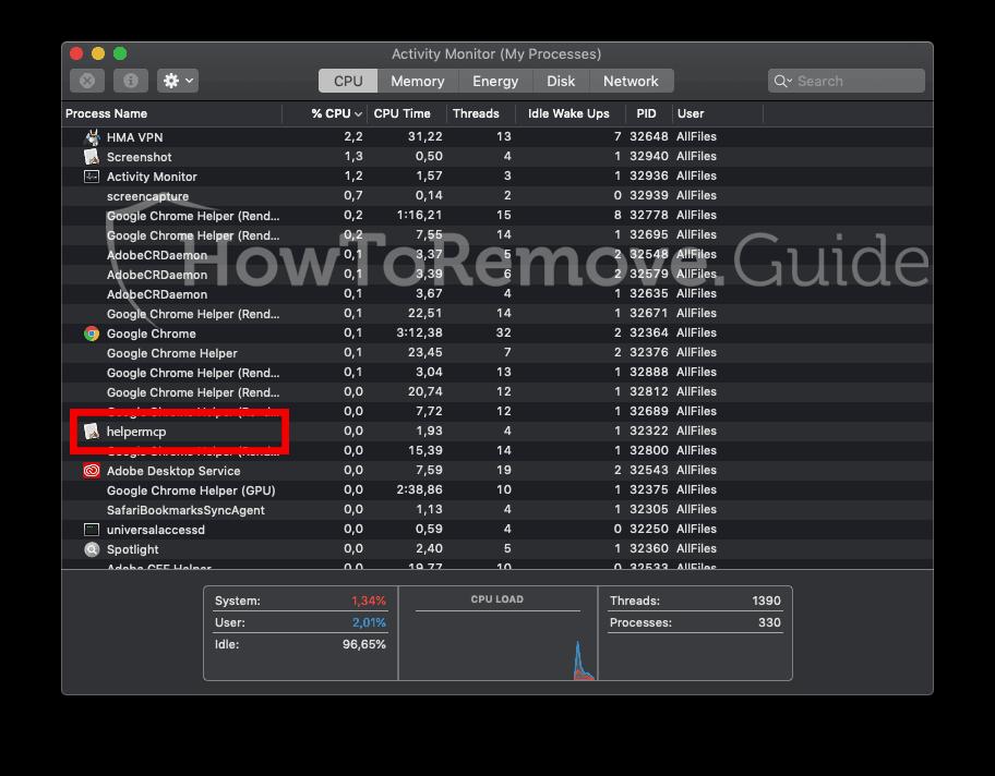 helpermcp mac activity log