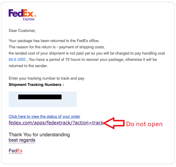 Tracking Updates FedEx