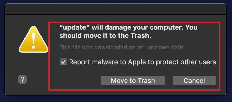 Will damage your computer Mac