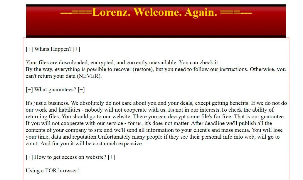 Lorenz Ransomware