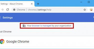 Your browser is managed