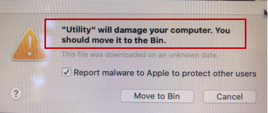 Utility Will Damage Your Computer