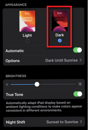 Dark Mode iPhone