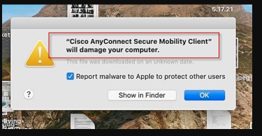 Cisco AnyConnect will damage your computer
