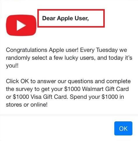 Dear Apple User