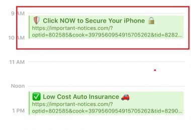 click now to secure your iphone
