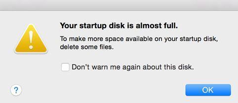 Startup Disk Full